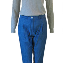 Nice-Things-Pullover-Fish-Intarsia-Nice-Things-Hose-Denim-Pants-with-Elestic