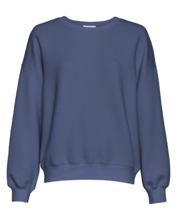 Gerade geschnittenes Sweatshirt von MSCH (IMA) mit Rundhals-Ausschnitt, gerippten Bündchen und überschnittenen Ärmeln aus weicher Viskose-Mischung. / Brick Dust, Gray Blue / pussyGALORE / Leipzig