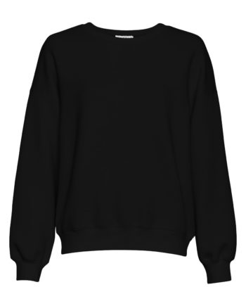 Gerade geschnittenes Sweatshirt von MSCH IMA mit Rundhals-Ausschnitt gerippten Bündchen und überschnittenen Ärmeln aus weicher Viskose-Mischung pussyGALORE Leipzig