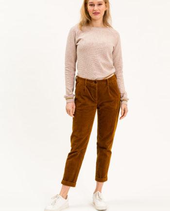 UVR CONNECTED KAYINA Mid-Waist Cord-Hose mit zwei seitlichen Eingrifftaschen